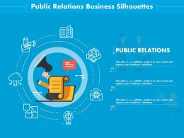 Public Relations Business Silhouettes