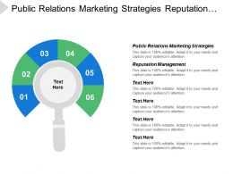 Public Relations Marketing Strategies Reputation Management Leadership Development