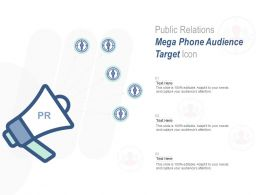 Public Relations Mega Phone Audience Target Icon