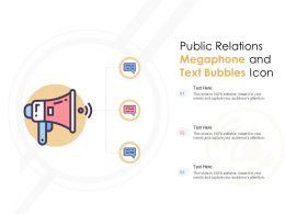 Public Relations Megaphone And Text Bubbles Icon