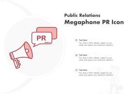 Public Relations Megaphone PR Icon