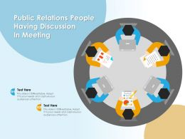 Public Relations People Having Discussion In Meeting