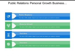 Public Relations Personal Growth Business Administration Business Cycle