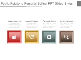 Public Relations Personal Selling Ppt Slides Styles