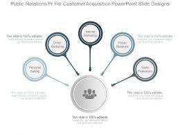 Public Relations Pr For Customer Acquisition Powerpoint Slide Designs