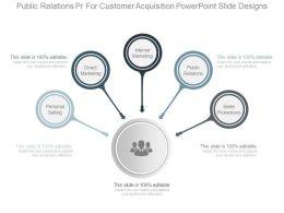 Public Relations Pr For Customer Acquisition Powerpoint Slide Designs