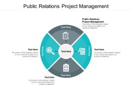 Public Relations Project Management Ppt Powerpoint Presentation Inspiration Guidelines Cpb