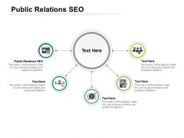 Public Relations Seo Ppt Powerpoint Presentation Infographics Inspiration Cpb