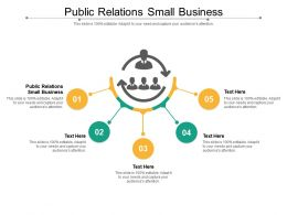 Public Relations Small Business Ppt Powerpoint Presentation Infographics Portfolio Cpb