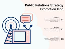Public Relations Strategy Promotion Icon