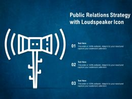Public Relations Strategy With Loudspeaker Icon
