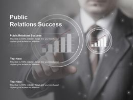 Public Relations Success Ppt Powerpoint Presentation Icon Background Cpb