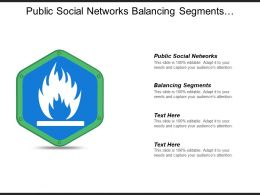 Public Social Networks Balancing Segments Mapping Chart Account