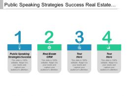 Public Speaking Strategies Success Real Estate Crm Company Featuring Cpb