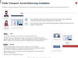 Public Transport Social Distancing Guidelines Ppt Powerpoint Presentation Outline Portfolio