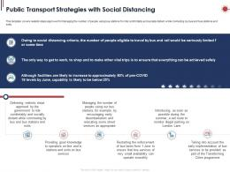 Public Transport Strategies With Social Distancing Ppt Powerpoint Presentation Model