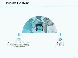Publish Content Agenda Server Ppt Powerpoint Presentation Show Vector