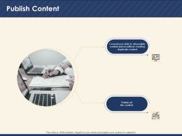 Publish Content Creating Duplicate Ppt Powerpoint Presentation Visual Aids Summary