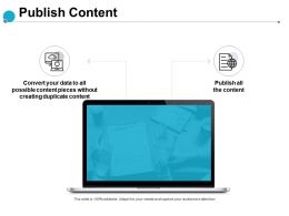 Publish Content Server Technology Ppt Powerpoint Presentation Show Slide