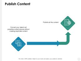 Publish Content Technology B197 Ppt Powerpoint Presentation File Show