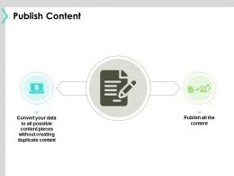 Publish Content Technology Ppt Powerpoint Presentation File Example