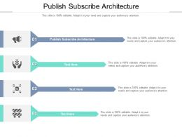 Publish Subscribe Architecture Ppt Powerpoint Presentation Model Templates Cpb