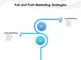 Pull And Push Marketing Strategies