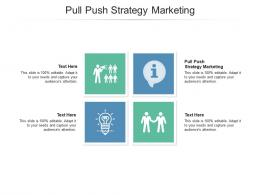Pull Push Strategy Marketing Ppt Powerpoint Presentation Gallery Designs Cpb