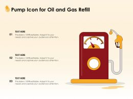 Pump Icon For Oil And Gas Refill