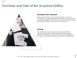 Purchase And Sale Of The Acquired Entities Ppt Powerpoint Presentation Pictures Display