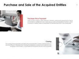 Purchase And Sale Of The Acquired Entities Server Ppt Powerpoint Slides