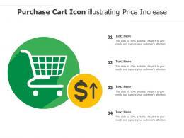 Purchase Cart Icon Illustrating Price Increase