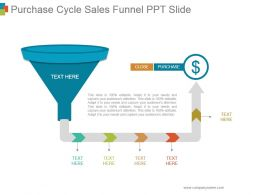 Purchase Cycle Sales Funnel Ppt Slide