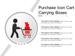 Purchase Icon Cart Carrying Boxes