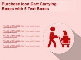 Purchase Icon Cart Carrying Boxes With 5 Text Boxes