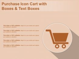 Purchase Icon Cart With Boxes And Text Boxes
