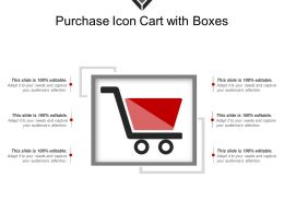 Purchase Icon Cart With Boxes Template 1
