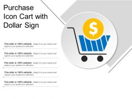 Purchase Icon Cart With Dollar Sign
