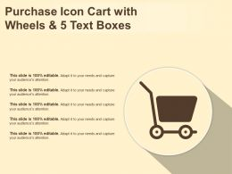 Purchase Icon Cart With Wheels And 5 Text Boxes