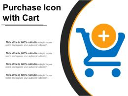 Purchase Icon With Cart