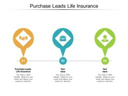 Purchase Leads Life Insurance Ppt Powerpoint Presentation Pictures Graphics Cpb