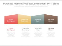 Purchase Moment Product Development Ppt Slide