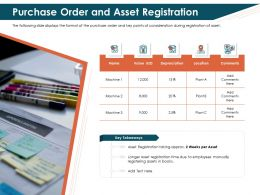 Purchase Order And Asset Registration Approx Ppt Powerpoint Brochure