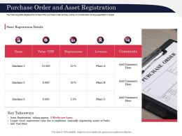 Purchase Order And Asset Registration Key Ppt Powerpoint Presentation Styles Graphics