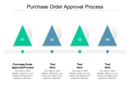 Purchase Order Approval Process Ppt Powerpoint Presentation Show Model Cpb