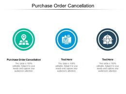 Purchase Order Cancellation Ppt Powerpoint Presentation Ideas Professional Cpb