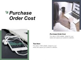 Purchase Order Cost Ppt Powerpoint Presentation File Graphics Example Cpb