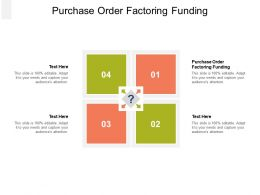 Purchase Order Factoring Funding Ppt Powerpoint Presentation Infographics Design Inspiration Cpb