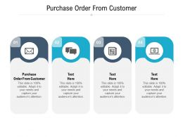 Purchase Order From Customer Ppt Powerpoint Presentation Ideas Samples Cpb