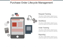 Purchase Order Lifecycle Management Ppt Slide Template